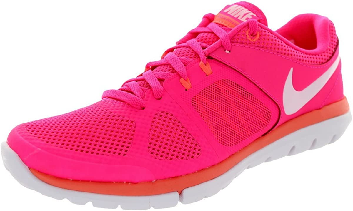 Nike Women s Flex 2014 Rn Hyper Pink White Bright Mango Running Shoe 6 Women US
