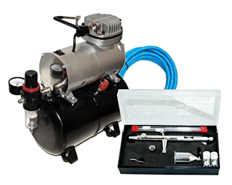MASTER Airbrush SB88 Pro Set with TC-20 T Air Compressor with Tank by Master