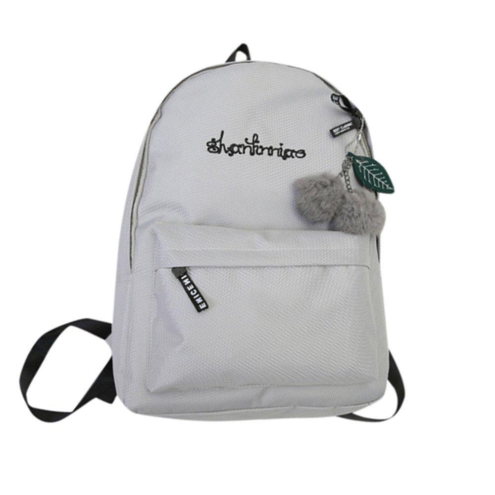 Toamen Bolsas De Libros SóLidas Preppy Unisex Del Hombro, Mochila De Viaje Escolar (Gris): Amazon.es: Ropa y accesorios