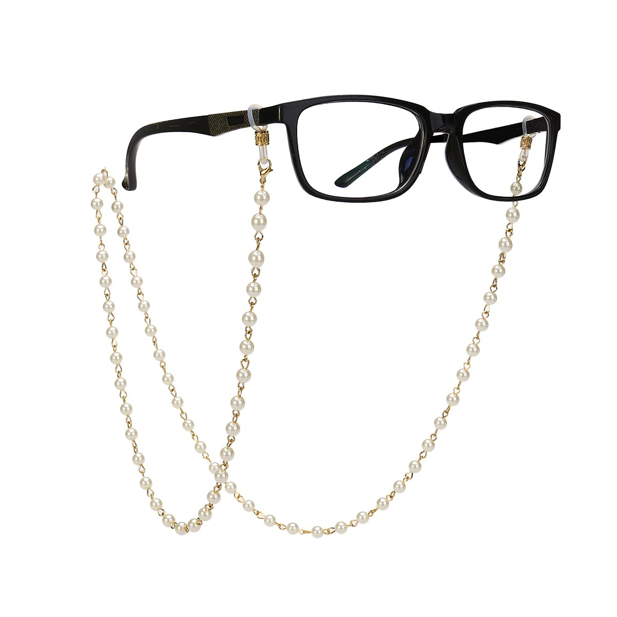 LUOEM Pearls Bead Eyeglass Chain Strap Sunglass Holder Lanyard Necklace Spectacles Holder Sunglasses Neck Cord Strap 64ZF153023U2SB95094