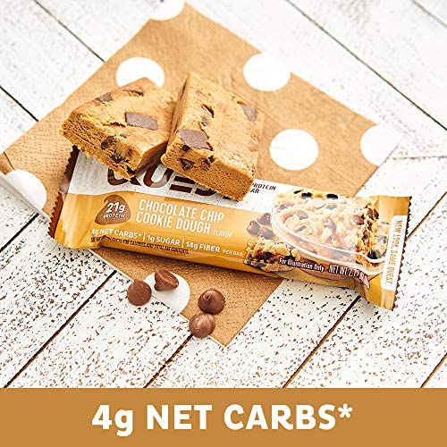 Quest Nutrition Chocolate Chip Cookie Dough Protein Bar, High Protein, Low Carb, Gluten Free, Soy Free, Keto Friendly, 12 Count 8