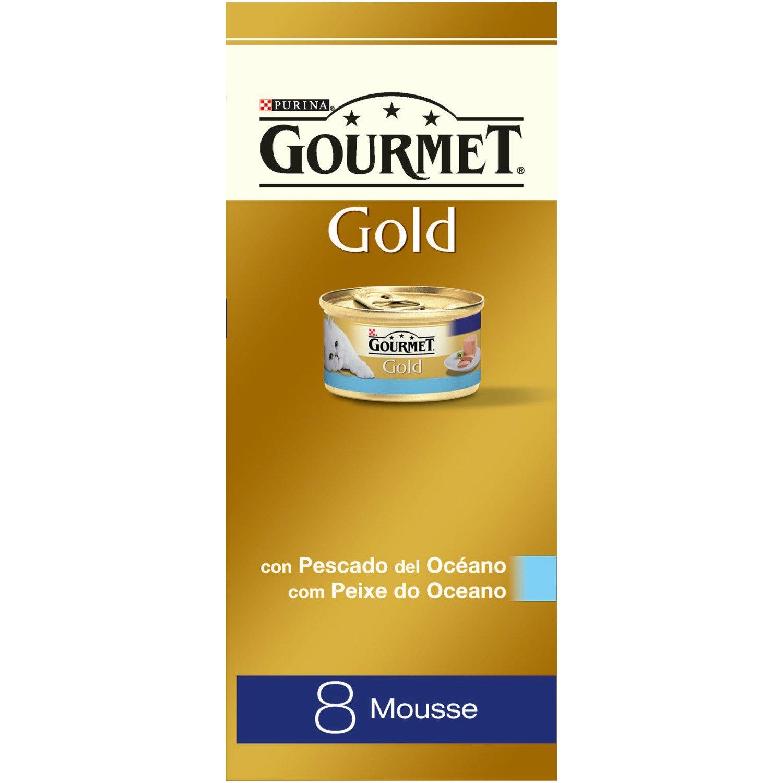 Purina Gourmet Gold - Mousse con Pescado del Océano, 1 Paquete Surtido de 8 x 85 gr - Total: 680 gr