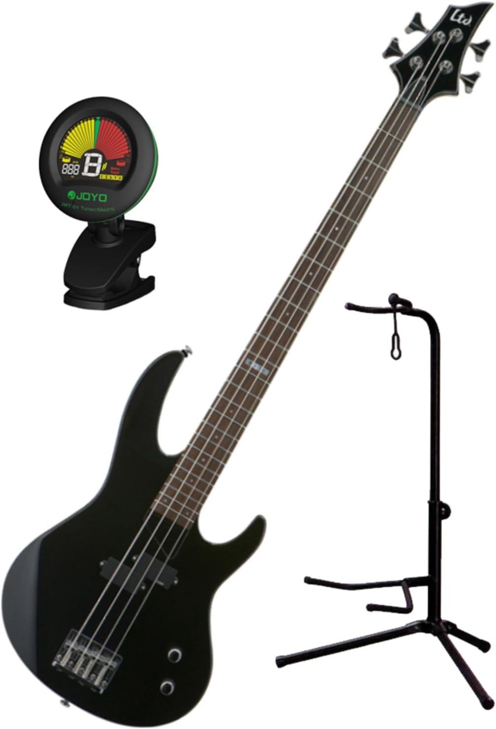 Esp Ltd B-10 BLK 4 cuerdas Bajo eléctrico Kit de guitarra w/funda ...