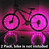 (2 Tiers Pack) Waterproof LED Bike Wheel Light - Safer Bicycle Spokes & Rims Light - Easy to install, No tools Needed