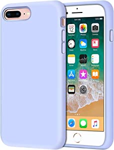 """iPhone 8 Plus Case, iPhone 7 Plus Case, Anuck Soft Silicone Gel Rubber Bumper Case Microfiber Lining Hard Shell Shockproof Full-Body Protective Case Cover for iPhone 7 Plus /8 Plus 5.5"""", Light Purple"""