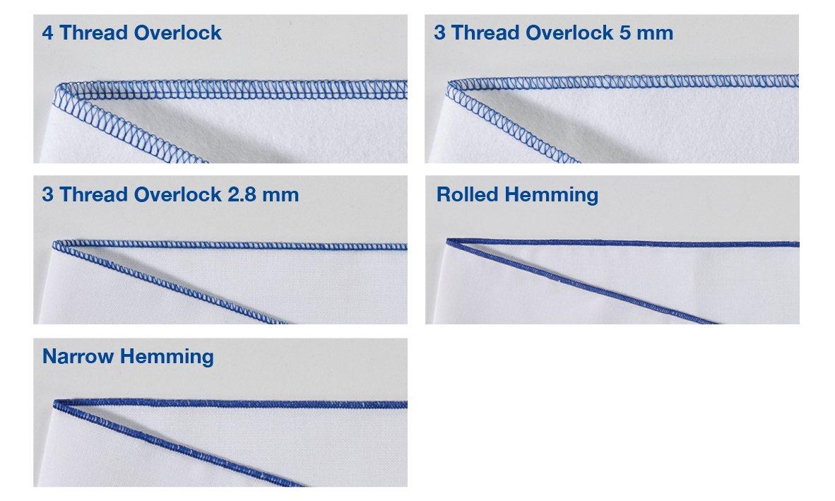 White 38.5 x 33 x 36.5 cm /& Schno Push 4/Cones Overlockgarn 40//2/ 120 Sewing Thread 5000/Yards Black Brother M343D Overlocker Other 4570/m