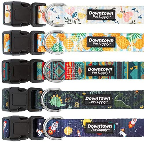 Downtown Pet Supply Best Cute and Fancy Printed Pattern, Soft Pet Dog and Puppy Collars for Small, Medium, and Large Dogs Collar (Tribal, Small)