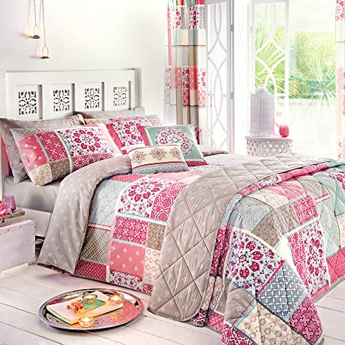 Dream Patchwork Blue Reversible Duvet Cover Bedding Set Stitchtrail