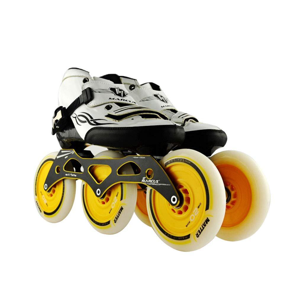 ailj スピードスケート靴3 * 125MM調整可能なインラインスケート、ストレートスケート靴(4色) (色 : Green, サイズ さいず : EU 39/US 7/UK 6/JP 24.5cm) B07HVWNBCQ EU 38/US 6/UK 5/JP 24cm|イエロー いえろ゜ イエロー いえろ゜ EU 38/US 6/UK 5/JP 24cm