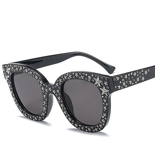5656c6c3f999 Star Rhinestone Sunglasses Women Black Sun Glasses High Fashion Design 2018  (black)