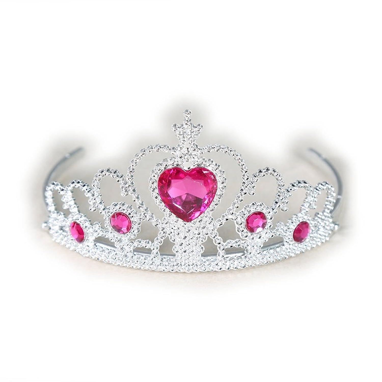 Yakadi chica diamantes de imitacion de cristal en forma de corazon de corona diadema