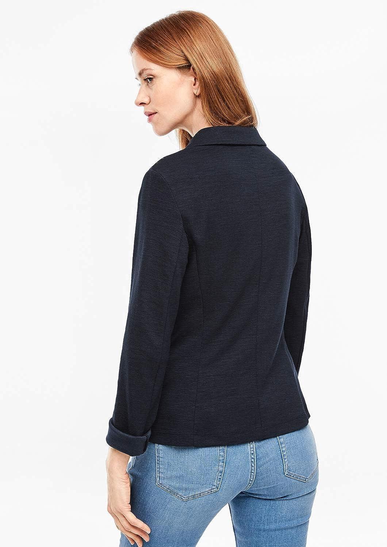 s.Oliver 04.899.43.6032 Damen Sweatblazer aus 50/% Polyester Arml/änge ca 63 cm