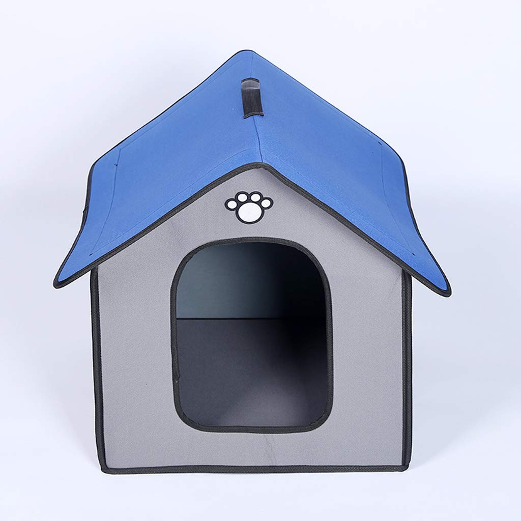 AB pet nest Mascota Nido al Aire Libre Perrera a Prueba de Lluvia cálido Invierno Callejero Perrera casa de Perro Perrera Perro cobertizo casa de Perro Invierno al Aire Libre - Gris -60  50  55cm