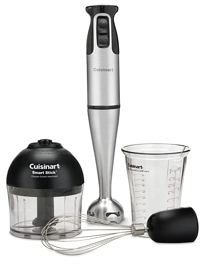 Cuisinart CSB-79 Smart Stick 2 Speed Hand Blender, Stainless Steel/Black