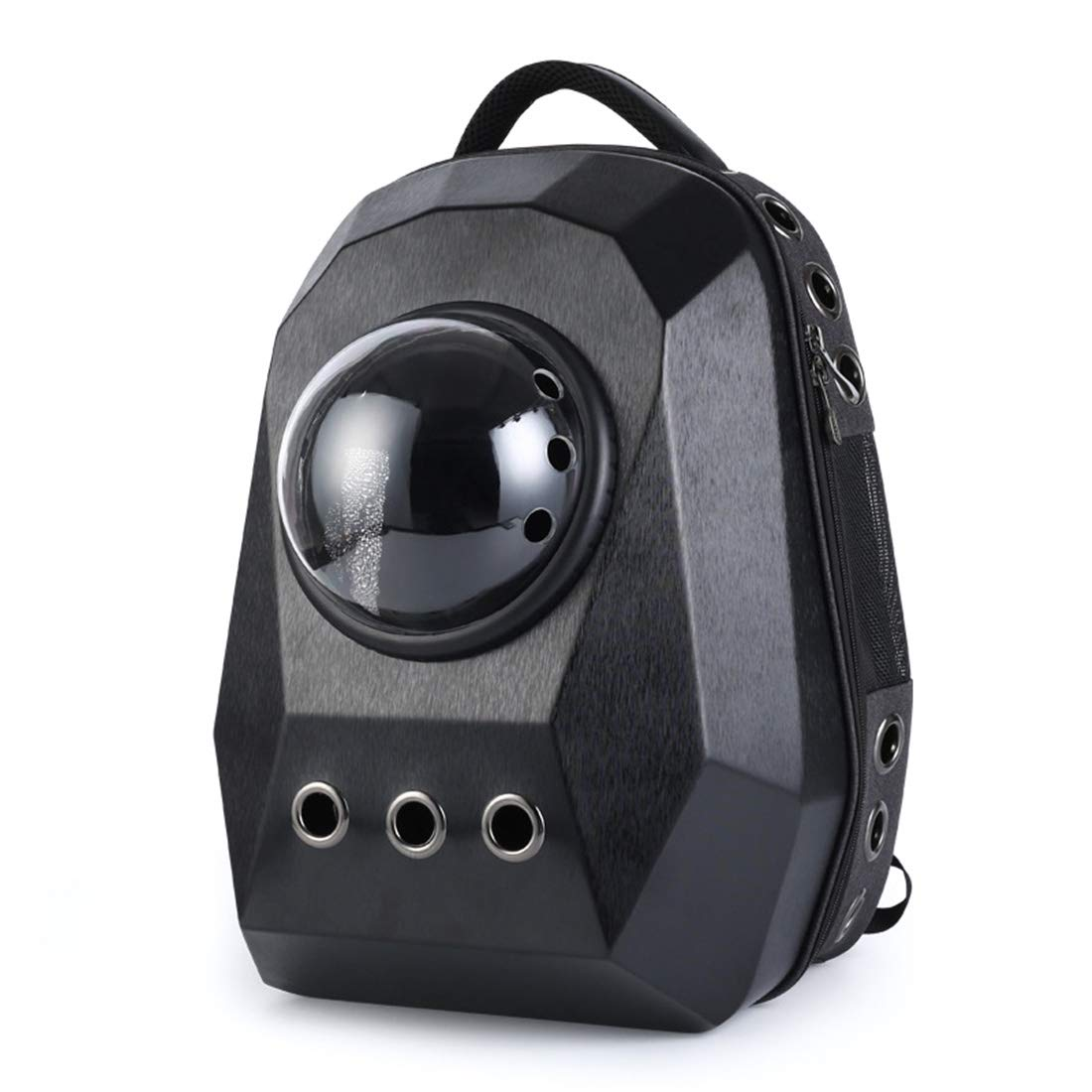 Black SHINING KIDS Portable Pet Backpack Diamond Cutting Surface Cat And Dog Bag Large Space Handbag For Travel,Hiking