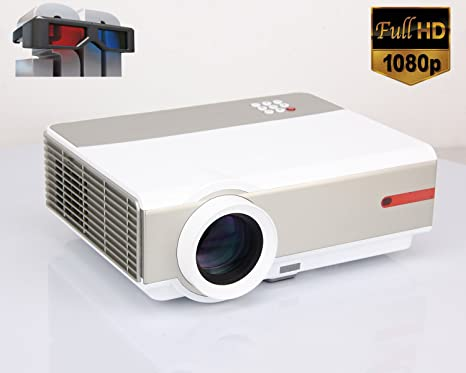1080P Proyector Full HD Vídeo proyector 5000 Lumens 10000:1 ...