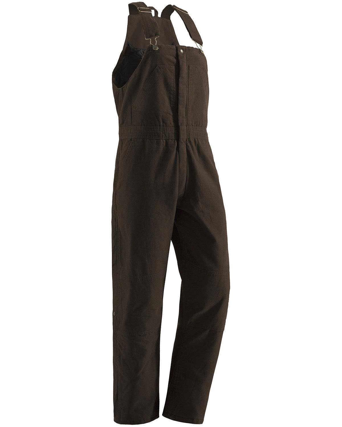 Berne Women's Washed Insulated Bib Overalls Tall Dark Brown MT
