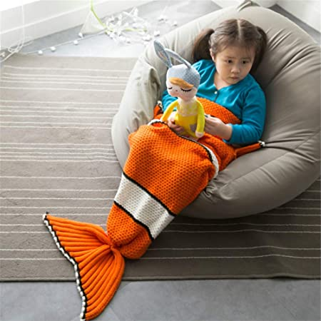 newest 6e56b 7bdb6 Rejoicing Fish Tail Blanket Soft Children Sleeping Bag for ...