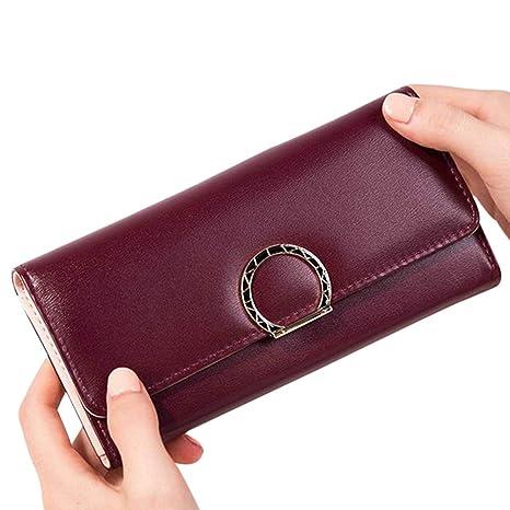Doitsa cartera para mujeres bolso de piel sintética Simple ...