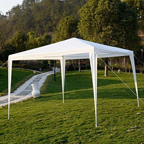 10'x10'Outdoor Canopy Party Wedding Tent Garden Gazebo Pavilion Cater Events (White) (10 Garden Party Gazebo)