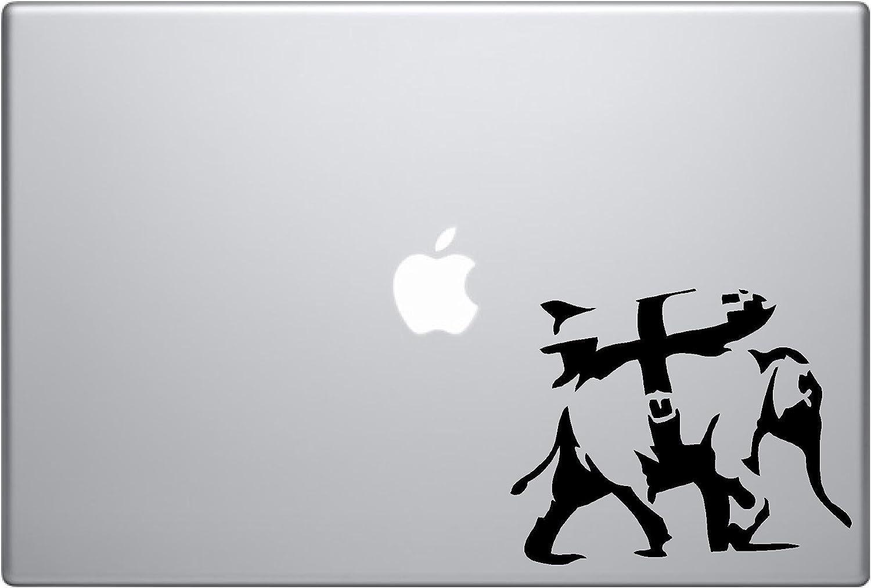 Banksy Elephant Bomb Vinyl Car Sticker Symbol Silhouette Keypad Track Pad Decal Laptop Skin Ipad MacBook Window Truck Motorcycle