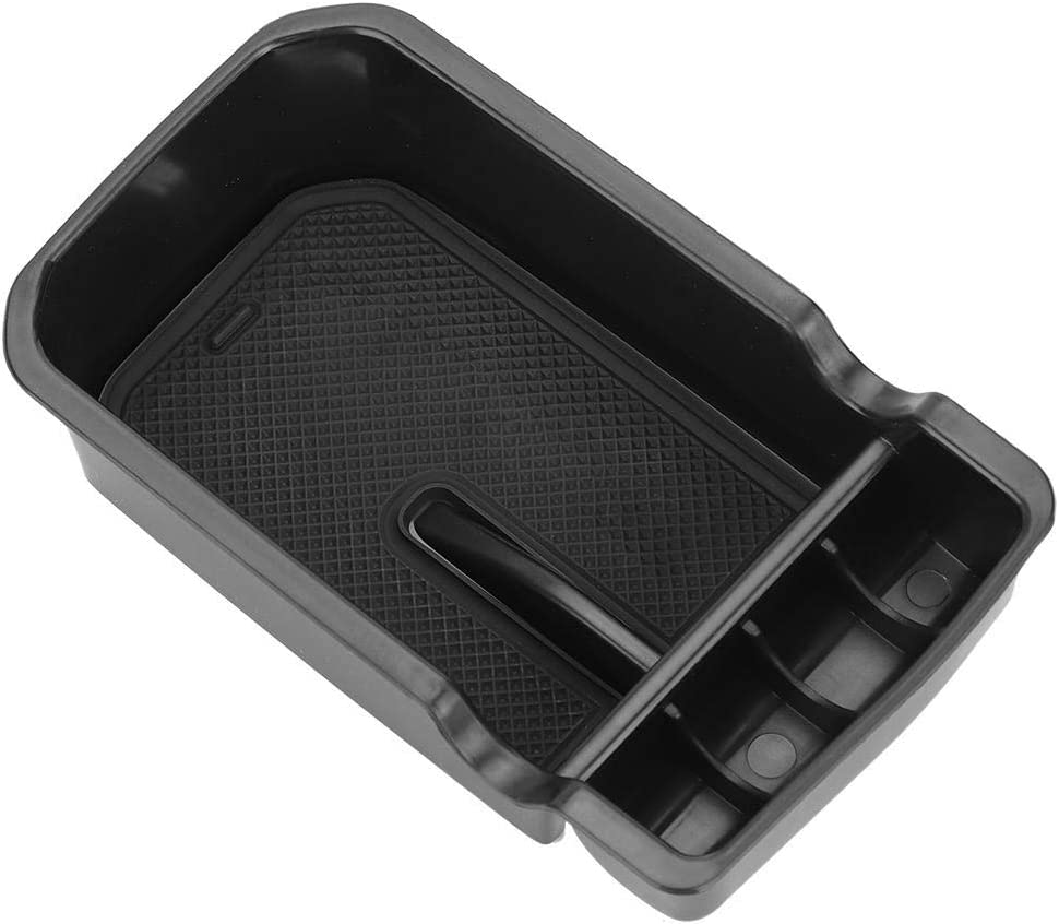 Rockyin Rockyin Car Center Console Armrest Storage Box Glove Organizer Tray for Jeep Compass 2017 Black