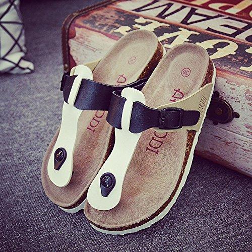 MEIDUO sandalias Corcho Zapatillas Chanclas Use De De Playa Antideslizantes 2 Zapatillas Zapatillas cómodo Más Frías Zapatos Planas wqdCB5B