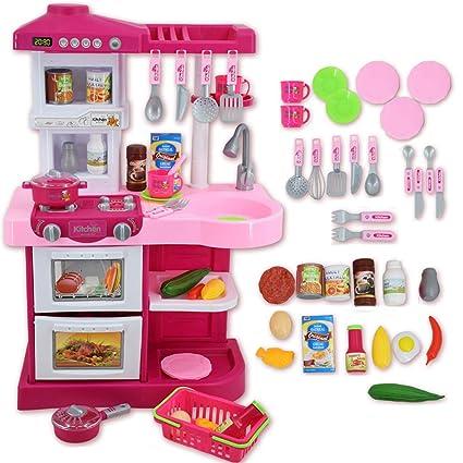 deAO Cucina Di Giocattolo Con Luci E Suoni Include 30 Accessori Per ...