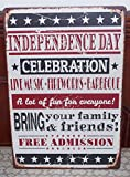Independence Day Antique Metal Tin Poster Home Party Decor