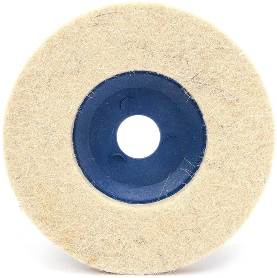 Bomcomi 3pcs Polishing Discs Pads Buffing 100 Degrees Angle Grinder Wheel Felt Grinding Disc Pad 100mm 4inch