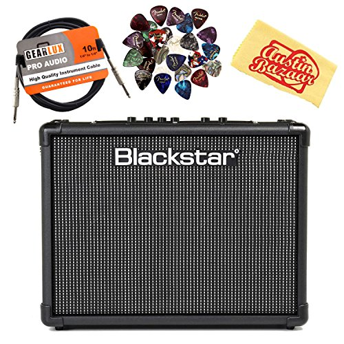 (Blackstar ID:Core Stereo 40 V2 Guitar Amplifier Bundle with Instrument Cable, Picks, and Austin Bazaar Polishing Cloth)
