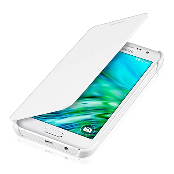 info for b6ae6 b1ff7 kwmobile Flip Case for Samsung Galaxy A3 (2015) - Book Style Protective  Front Flip Cover Smartphone Case - White