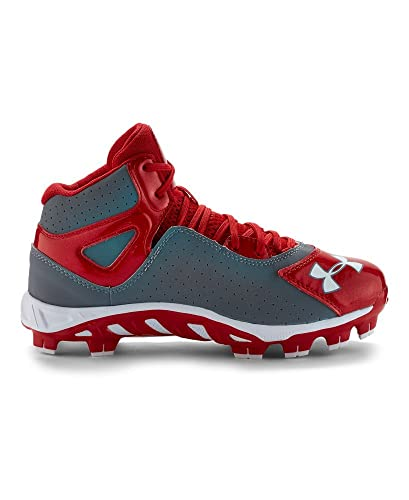 985e56cc282 Under Armour Boys  UA Spine Heater Mid ST Baseball Cleats 1.5 Baseball  Gray  Amazon.co.uk  Shoes   Bags