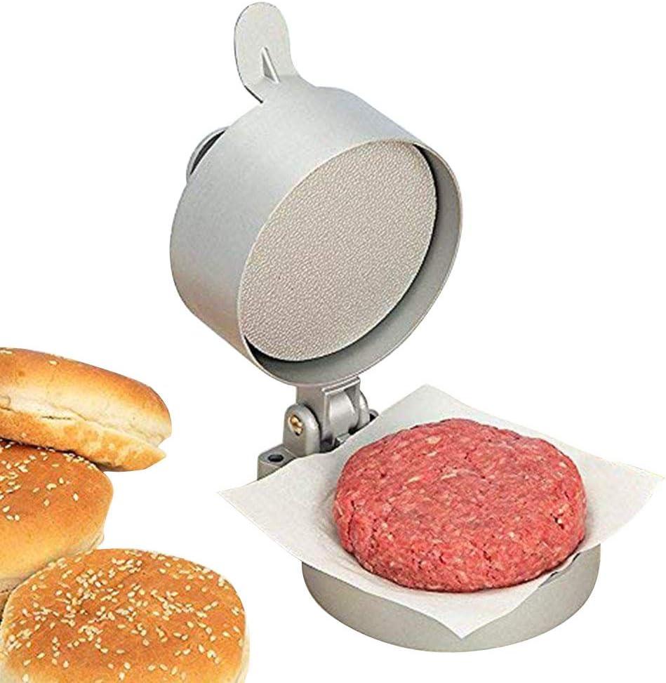 Presse Steak Hach/é Fait Maison Moule Steak Hach/é Antiadh/ésive Alliage Daluminium Moule /À Hamburger Farci pour Presse /À Viande pour Glissi/ères et P/ât/é /À Hamburger,Singlemold