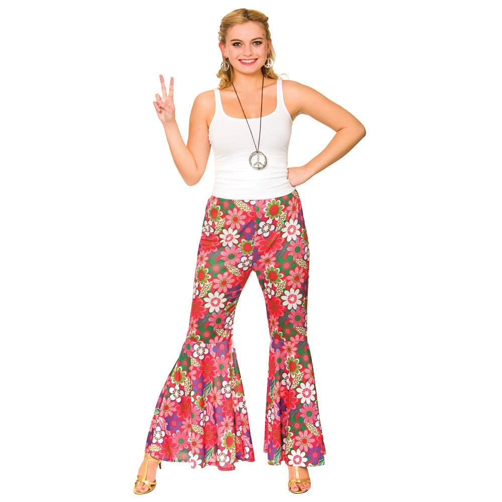 1960/'s-1970/'s-Colourful Flares-Hippy Pants-Trousers ALL ADULT SIZES PLUS SIZES