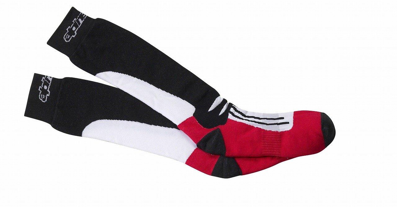 4703111 30 L/XXL - Alpinestars Racing Road Socks L/XL Black/Red 470311130_L/XL