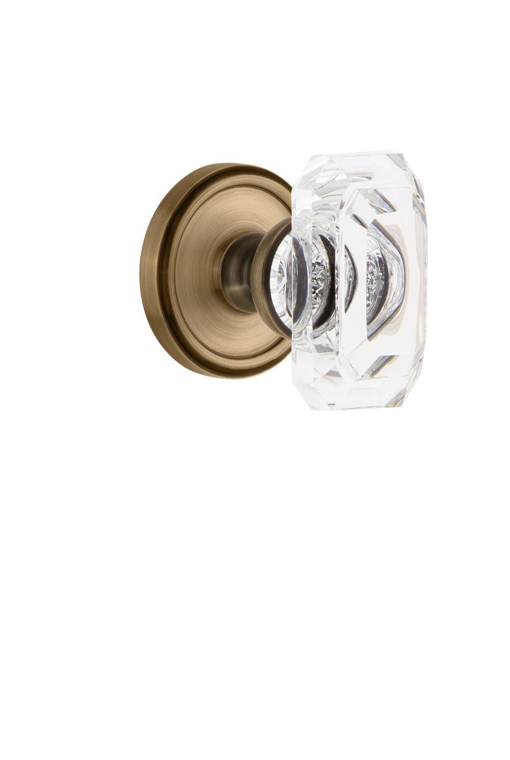 2.375 Grandeur 827860 Georgetown Rosette Passage with Baguette Crystal Knob in Polished Nickel