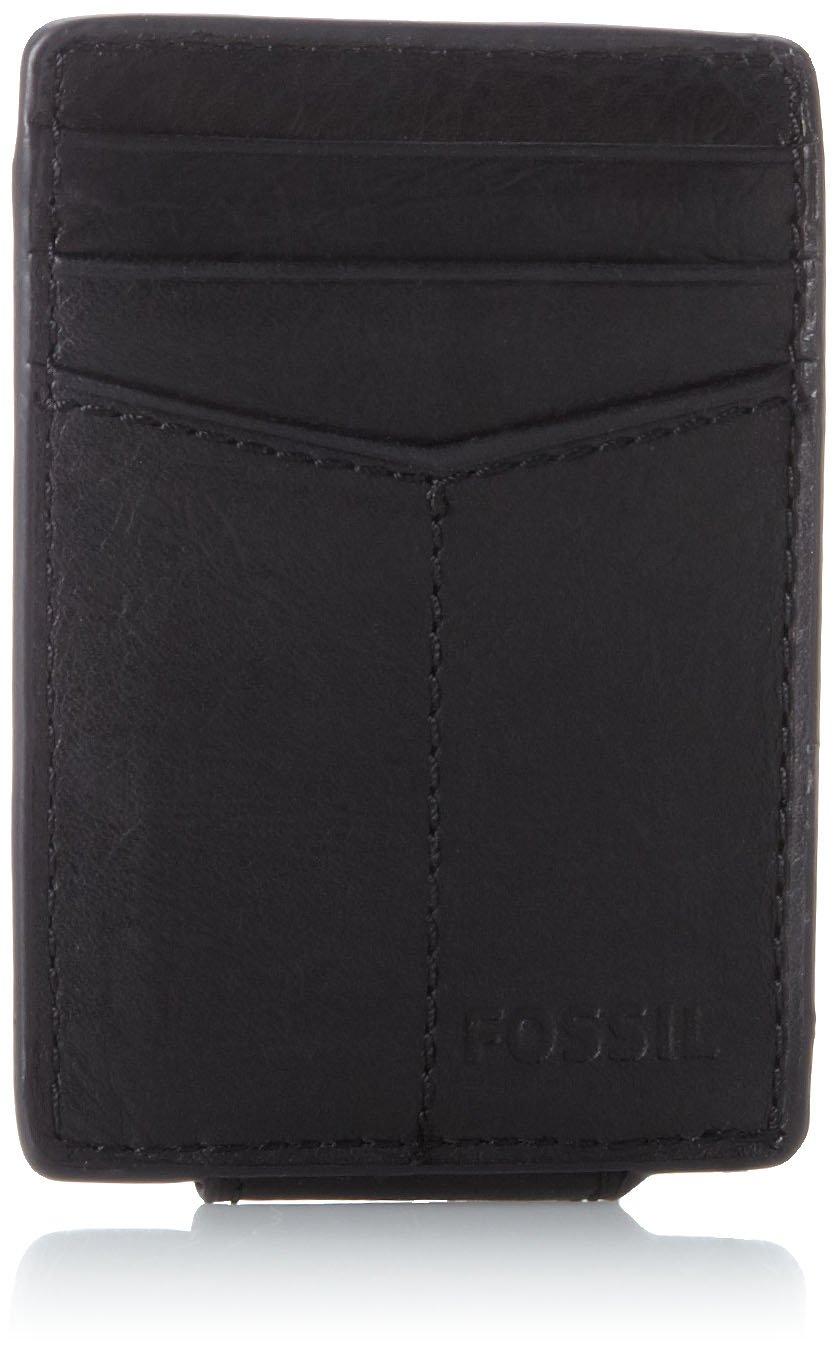 Fossil Men\'s Magnetic Card Case Wallet, Ellis-Black, One Size at ...