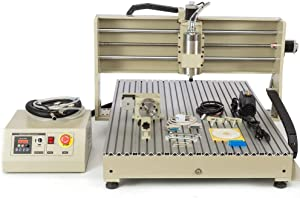 1500W 4AXIS USB CNC Router 6040T Engraver Machine Mill Metal Woodworking 3D Carve with Water-Cooled VFD