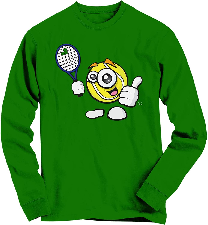 1Tee Mens Happy Tennis Ball with Racket T-Shirt