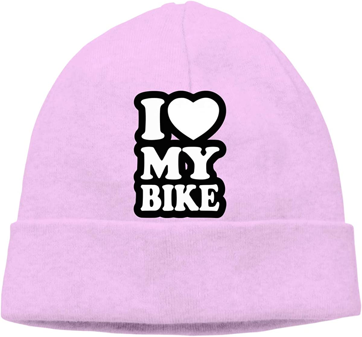 Unisex I Love My Bike Soft Knit Beanie Caps Soft Hat