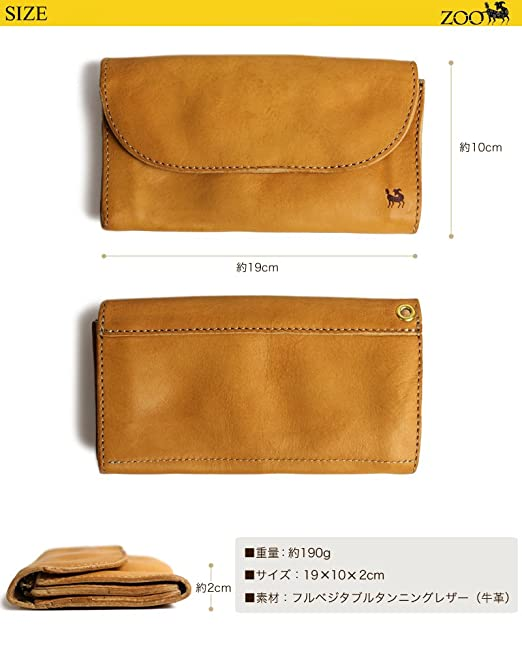 f8a0df9fac40 Amazon.co.jp: ZOO BEAVER WALLET ZLW-010-BROWN: 服&ファッション小物