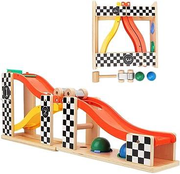 Coche de Carreras de Coches para niños Juguete rampa Deslizante Gigante Deslizante Escalera Deslizante Juego de Carreras de Deslizamiento Coche de Juguete con 2 Bolas Regalo para niños: Amazon.es: Juguetes y juegos