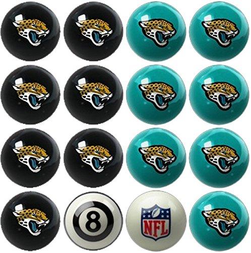 Resin Jacksonville Jaguars Football - Imperial Officially Licensed NFL Merchandise: Home vs. Away Billiard/Pool Balls, Complete 16 Ball Set, Jacksonville Jaguars