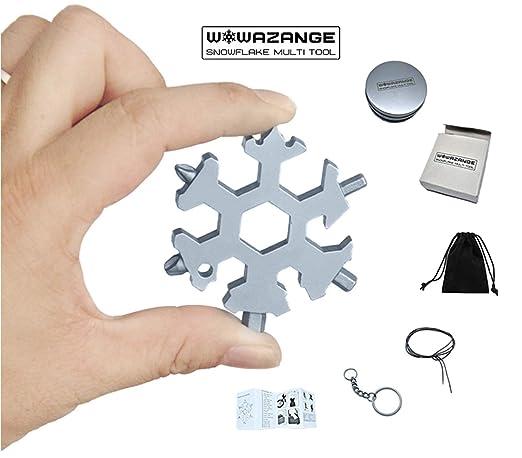 Amazon.com: Snowflake Multi herramienta llavero de acero ...