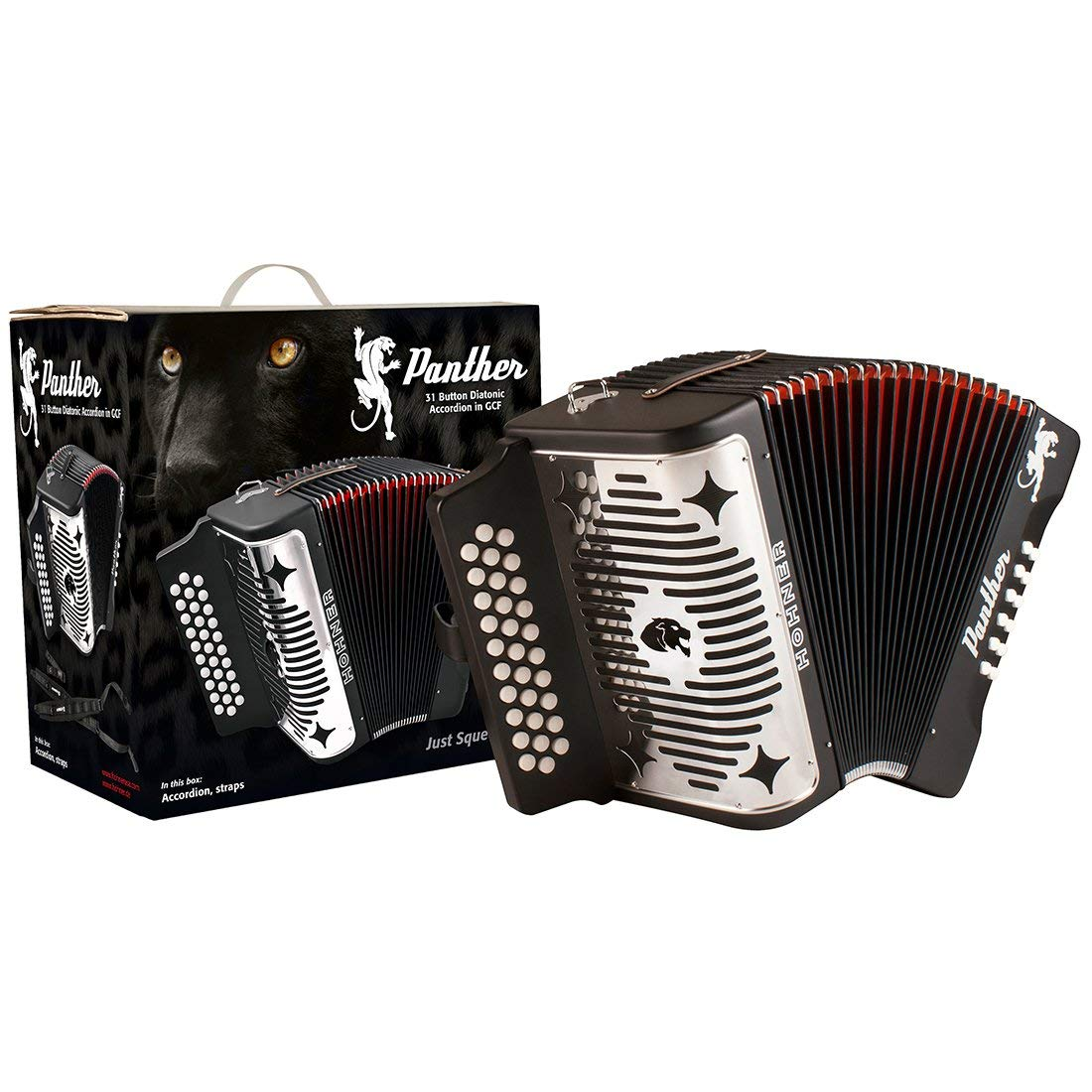 Hohner Panther 3100FB Diatonic Accordion Comprehensive Starter Kit with Gig Bag, Instruction Book and Cleaning Cloth by Hohner Accordions (Image #3)