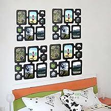 iHappy Black Plastic Hanging Photo Frames DIY Home Room Divider Screen Partition Panels #B