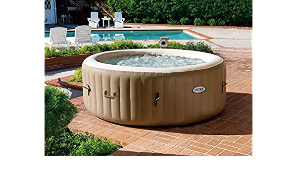 INTEX - SPA Hinchable PureSpa Redondo Burbujas 4 plazas + ...