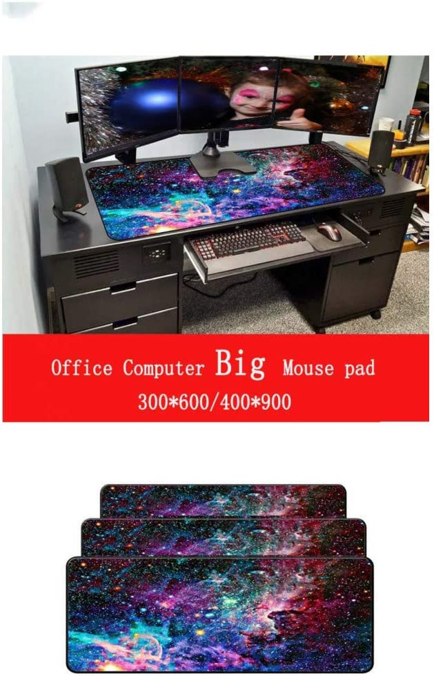WHFDSBDWaterproof Mousepad Size for 3008002Mm and 4009003Mm Design Large Mouse Pad