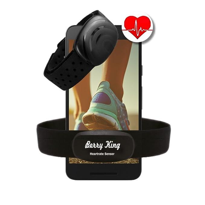 150 opinioni per BerryKing Sportbeat, Fascia da Braccio per Frequenza Cardiaca, Bluetooth 4.0e